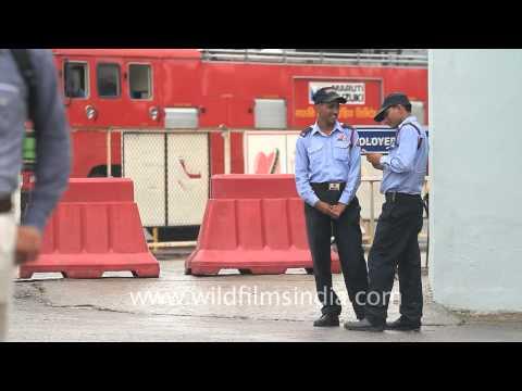 Group 4 G4S Security guards pose for us at Maruti Suzuki Gurgaon plant