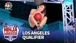 Zhanique Lovett at the Los Angeles Qualifiers - American Ninja Warrior 2017