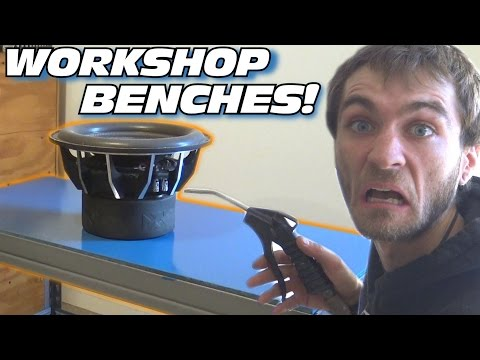 EXO s Car Audio Workshop Pt 1 Making MDF Tables & Painting Workbench w Waterproof BLUE Paint