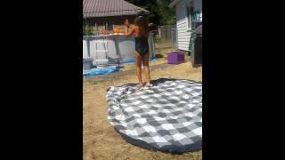 Little girl shaking her booty