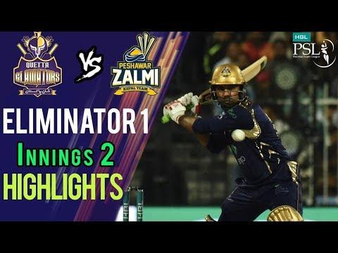 Short Highlights Innings 2 | Peshawar Zalmi Vs Quetta Gladiators|Eliminator 1 | 20Mar |HBL PSL 2018