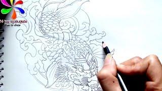 Vẽ cá chép hóa rồng  [P1]