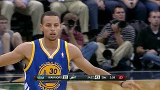 The Curry Brothers (Steph & Seth) in nba preseason vs Jazz 8.10.13