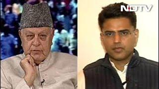 When Sachin Pilot And Farooq Abdullah Met On NDTV Show