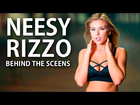 Neesy Rizzo modeling photo shoot - Behind the Scenes