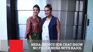 Neha Shoots For Chat Show No Filter Neha With Kajol