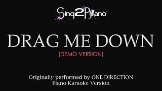 Drag Me Down (Piano karaoke demo) One Direction