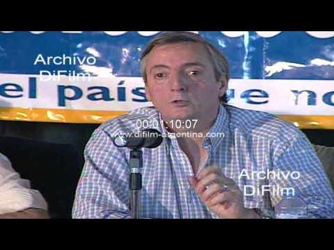 DiFilm - Conferencia Eduardo Duhalde y Nestor Kirchner en Calafate 1998