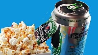 How to Make a Popcorn Machine from Beer Can