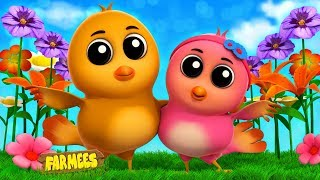 Two Little Dicky Birds | Nursery Rhyme Videos For Toddlers | Cartoons For Children by Farmees