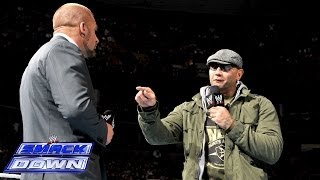 Batista comes face-to-face with Triple H: SmackDown, March 28, 2014
