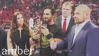 WWE Dean Ambros Kiss Paige   Seth    I only fuck you 640x360
