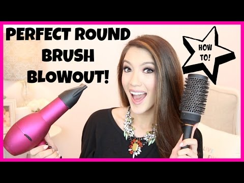 HOW TO: PERFECT ROUND BRUSH BLOWOUT!   Blair Fowler