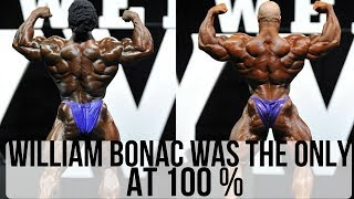 WILLIAM BONAC was beating BIG RAMY in prejudging at MR OLYMPIA 2017