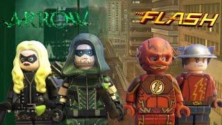 Lego CW- Arrow and The Flash Minifigures