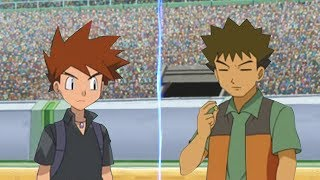 Pokemon Battle USUM Gary Vs Brock (Rival and Companion Face Off!)