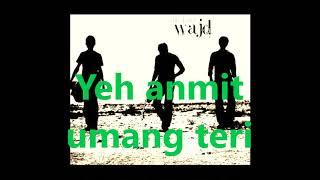Wajd (band) ft. Sarmad Ghafoor - Toofan-e-Mann (lyrics)