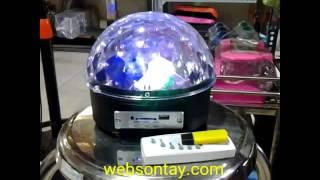 Đèn Xoay Vũ Trường 7 Màu Có Phát Nhạc USB