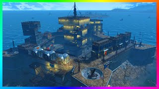 FALLOUT 4 BASE BUILDING! REBUILDING THE CASTLE! - Ultimate Fortified Castle Base! (Fallout 4)