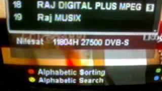 SUN TV available in Nilesat.7*West - 2011