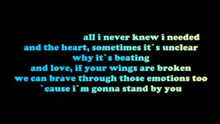 Rachel Platten Stand By You Lyrics On The Screen HD