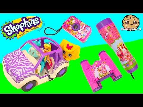Shopkins Adventure Kit Animal Exploring Playset with Queen Elsa - Cookie Swirl C Videos