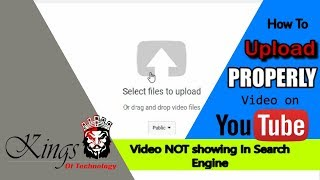 How To Upload Video On YouTube | Video NOT showing In Search Engine