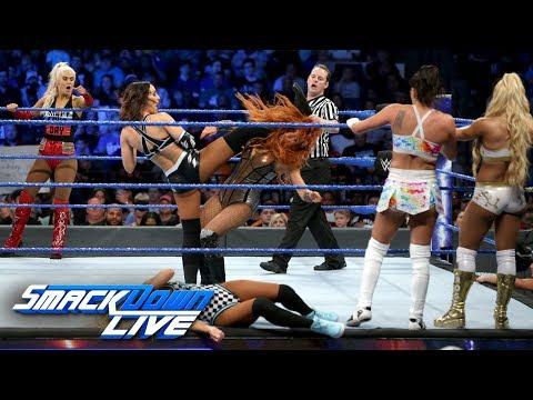 Xxx Mp4 Ten Woman Tag Team Match SmackDown LIVE June 12 2018 3gp Sex