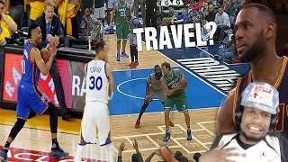 WTF LEBRON'S NEVER TRAVELED BEFORE? NBA UNCALLED TRAVELS COMPILATION REACTION!