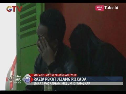 Gelar Razia Tempat Penginapan, Polres Malang Amankan 4 Pasangan Mesum - BIM 2601