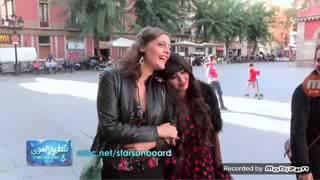 الفنان حسن الرداد يحمل الكويتية مريم حسين ويسير بها في شوارع اسبانيا