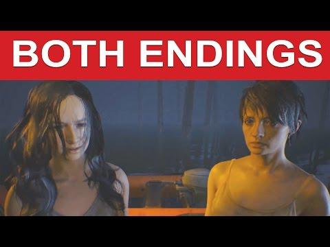 Resident Evil 7 Both Endings Good Ending Bad Ending Cure Mia Cure Zoe
