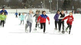 Track Team Practices Despite Snow