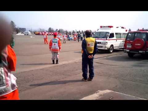 東日本大震災 岩手県消防学校ERUヘリポート3月13日