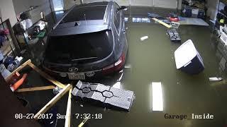 Houston Harvey Flood - Meyerland Neighborhood - August 27 2017 - Garage Time Lapse
