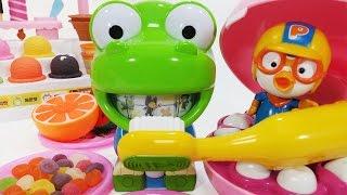 뽀로로 와 크롱 치카치카 멜로디 양치놀이 장난감 Crong melody Brushing Teeth Pororo Toy