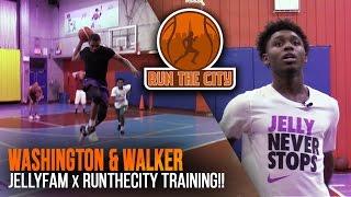 Isaiah Washington & Jordan Walker Workout in Harlem!! JellyFam x RunTheCity!