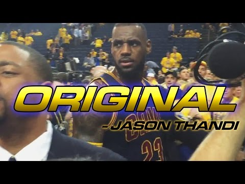 *ORIGINAL*NBA FINALS POSTGAME - DISRESPECTFUL WARRIOR FAN . LEBRON JAMES REACTS BEING CALLED  PUSSY
