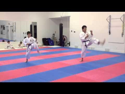 Purple belts testing for brown belt 2012 - IKD Shotokan karate in Winnipeg 2012