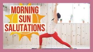 15 min Morning Sun Salutations Yoga Flow