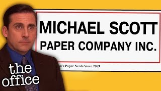 The WHOLE Michael Scott Paper Company Story - The Office US