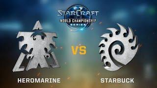 StarCraft 2 - HeroMarine vs. Starbuck (TvZ) - Ro64 - WCS Austin Challenger EU Qualifier #2