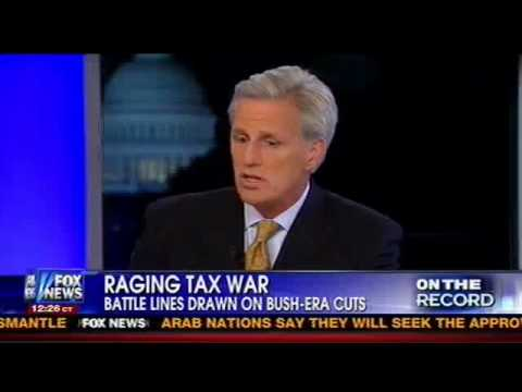 McCarthy Obama Tax Hikes Hit Small Businesses Jobs