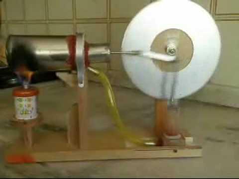 Motor Stirling hecho en casa