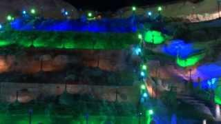 تصوير فيديو ليلي يوضح شلال ملـيجة