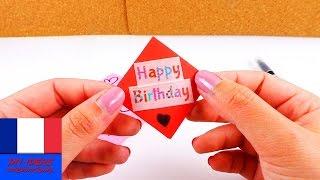 Carte d'anniversaire à plier soi-même | Fabriquer une petite carte | Super simple, rapide & jolie