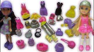 ألعاب تلبيس بنات اكتر من 30 قطعة ملابس واكسسوارات  Polly Pocket Doll
