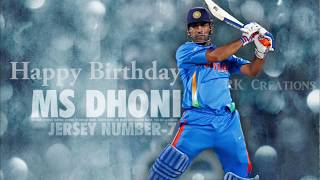 Happy Birthday Ms Dhoni | Believer ft Dhoni | 2018 | RK Creation