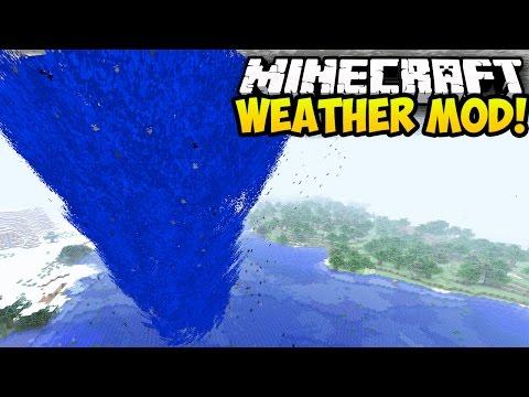 Minecraft Mods: WEATHER MOD! (NEW WEATHER, TORNADOES, HURRICANES) (Minecraft Mod Showcase)