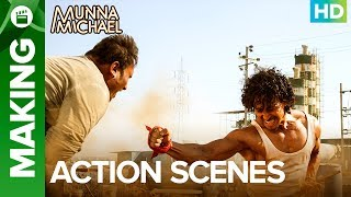 Munna Michael Action Scenes (Making) | Tiger Shroff & Nidhhi Agerwal